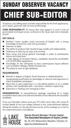 Sri Lankan Government Job Vacancies At Elkaduwa Plantations