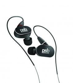 PSB 4 (Black Diamond)Hear PSB's refined sound, everywhere you go. The PSB 4 in-ear headphones use dynamic and balanced armature drivers for true-to-life sound that's tuned to sound like PSB speakers. Headphones With Microphone, Headphone With Mic, Wireless Headphones, In Ear Headphones, Audiophile Headphones, In Ear Monitors, High Definition, Black Diamond, Speakers
