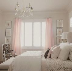3 pictures idea - guest bedroom (pink, silver & white)