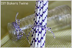 DIY Baker's Twine Tutorial