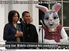 Barack Obama and Michelle with giant Easter Bunny in this funny photo!  http://www.barack-obama-photos.com/Funny-Obama-Photos.html