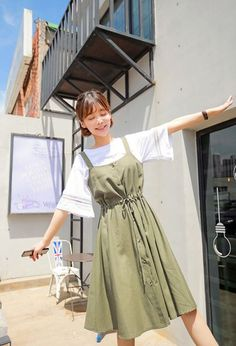 Korean Girl Fashion, Korean Fashion Trends, Korean Street Fashion, Asian Fashion, Cute Casual Outfits, Modest Outfits, Simple Outfits, Pretty Outfits, Summer Outfits