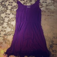 Purple Fringed bottom dress Purple Fringed bottom dress Joseph Dresses Midi