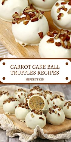 CARROT CAKE BALL TRUFFLES RECIPES Carrot cake ball truffles are an elegant take on Easter candy. This fun springtime candy puts a new twist on classic carrot cake flavor. These carrot cake truffles would be a festive end to any springtime celebration. Cake Ball Recipes, Candy Recipes, Dessert Recipes, Dessert Blog, Cheesecake Recipes, Cupcake Recipes, Thanksgiving Cakes, Cake Truffles, Chocolate Truffles