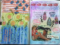 Courage to Create — Round up of recent art journal pages