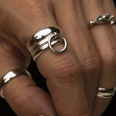 Silver Jewelry, Silver Rings, Rose Colored Glasses, Body Art Tattoos, Body Jewelry, Band Rings, Jewelery, Jewelry Accessories, Submission