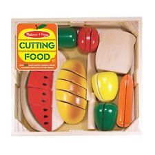 Melissa and Doug Cutting Food PLAY SET,Wooden Toys Pretend Play KITCHEN SET