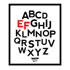 Alphabet A-Z #design #poster