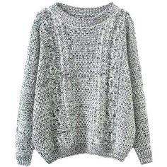 Blackfive Round Neck Cable Knit Loose Pullover Knitwear