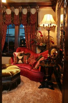Rich and inviting...Old World Design living room, Tuscan