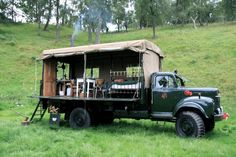 CLICK FOR Amazing Spaces camping inspirations with George Clarke - Army Truck Camping / glamping