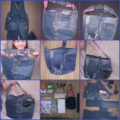 Jean purse made from overalls