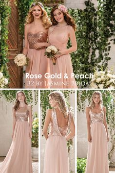 ebc83cc3ef0 Mix and match Jasmine Bridal bridesmaid dresses to create your perfect  bridal party! B2 styles