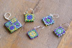 Granny squares are easily the most recognizable crochet project! They're beautiful, classic, and fun to crochet. Keep track of your stitches with this lovely set of 5 stitch markers. Each opens and cl                                                                                                                                                                                 More