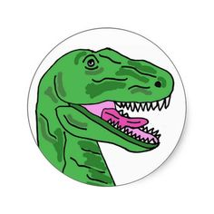 Funny T-Rex Dinosaur Stickers #dinosaurs #funny #stickers #animals #trex #zazzle #petspower