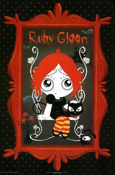 Ruby Gloom Poster in A Red Frame RARE Hot New 24x36 | eBay