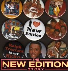New Edition Bobby Brown button on your sleeve
