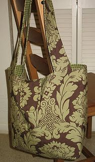 This would make a cute tote as well as a diaper bag