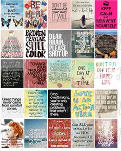 Anxiety Motivational Quotes Sticker Sheet Printable - Printable Quote Sheet for Life Planner - fits Erin Condren Life Planner - Instant DL