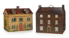 Two Victorian painted work boxes, mid c Sotheby's