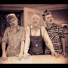 "Vivian Vance and William Frawley did Lucille Ball's trademark ""Eugh"" to amuse the studio audience after a take!"