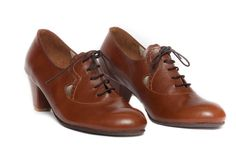 Leather Shoes Leather Pumps Dance Shoes Heeled by BangiShop