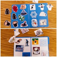 """Winter File Folder! (Non-Identical and Identical Matching) I have two download to use with students. One is a non-identical matching activity and the other is an identical matching activity. Don't use the same file folder during multiple instruction sessions as the students may memorize placement of the materials rather than learning the matching skill. it is nice for independent work tasks and for teaching tacts. Can be used with FFC teaching (ex. """"Find the one you drink"""")"""