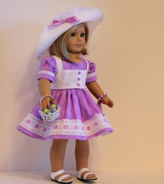 American Girl Doll Easter Parade Girl by SewSpecialByBarb on Etsy, $45.00