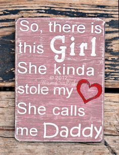 There's This Girl Large 10x14 Weathered Wood Wall door MamsCrafted