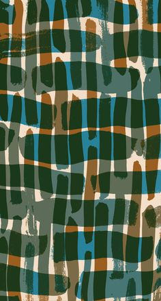 Painted and digital 'camouflage' pattern - Sarah Bagshaw