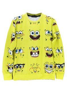 Shop Yellow Unisex SpongeBob SquarePants Expression Print Long Sleeves Sweatshirt from choies.com .Free shipping Worldwide.$28.79