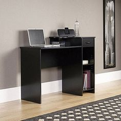 Mainstays Black Student Desk with Optional Office Chair simple and not to big or ugly:)