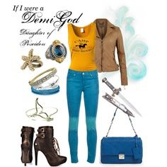 Percy Jackson, Camp Half Blood Demigod Outfit <3