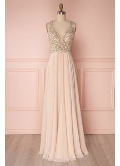 0a9f6eb74d4845 Glorious Pink Prom Dresses, Sequin Bridesmaid Dress, V-Neck Prom Dresses,  Prom Dresses Long
