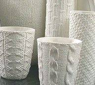 Knitted porcelain