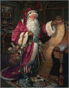 fete noel vintage gifs images - Page 12 Christmas Scenes, Father Christmas, Santa Christmas, Xmas, Christmas Christmas, Primitive Christmas, Country Christmas, Christmas Mantles, Christmas Villages