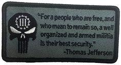 Patch Squad Men's Tyranny Liberty 3% Percenter 2nd Amendment USA Militia Morale Patch