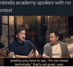 this is just a place for me to dump my umbrella academy memes, becaus… Hunger Games, Funny Memes, Hilarious, Under My Umbrella, Academia, Movies And Tv Shows, I Laughed, Movie Tv, Emo