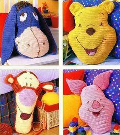 Winnie l'ouson et ses amies avec leurs grilles gratuites ! - Modèles bébé
