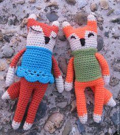 Купить Вязаная игрушка Спящий лис - рыжий, лис, лисенок, лисичка, маленький принц, спящий