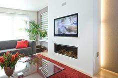 Home Design Living Room, Interior Inspiration, House Plans, House Design, Tv Walls, Home Decor, Moroccan, Fire, Google
