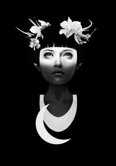 Hyperdusk by Ruben Ireland #art #bw