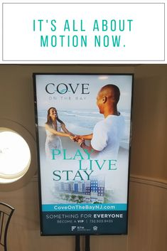 It's all about #motion now 🌀 These 6-second #video ads for Cove On The Bay in Keansburg, NJ are currently running in the Conners Highlands Ferry Terminal! ⛴️