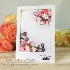 Beautiful Altenew image on a CAS (clean and simple card)
