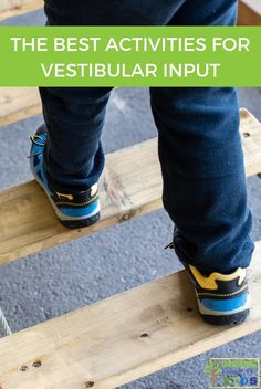 The best activities for vestibular input, perfect for vestibular sensory avoiders or seekers. Pediatric Physical Therapy, Pediatric Ot, Occupational Therapy, Vestibular Activities, Gross Motor Activities, Vestibular System, Sensory Diet, Sensory Issues, Sensory Play