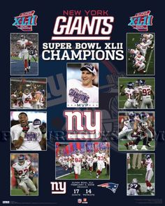 New York Giants Super Bowl 42 Championship Picture Plaque #NewYorkGiants