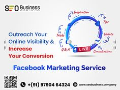 Social Media Strategies Focused on Increasing the Reach & Visibility of Your Business. We will enhance your online exposure! Call us 9790464324 #seobusinesscompany #socialmediaagency #SEOServicesAgency #displayadvertising #seoservicecompany Facebook Marketing, Social Media Marketing, Seo Services Company, Display Advertising, Business, Store, Business Illustration
