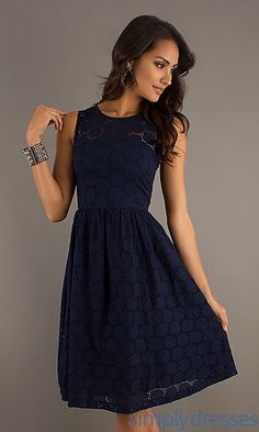 Knee Length Sleeveless French Connection Dress at SimplyDresses.com