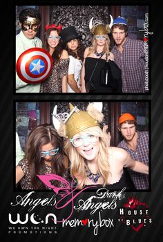 Angels vs. Dark Angels @ The House of Blues #ihrtmemorybox #photobooth