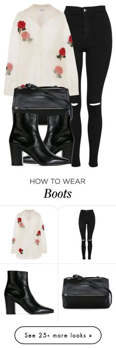 """Untitled #6656"" by laurenmboot on Polyvore featuring Topshop, Ashish, Givenchy and Yves Saint Laurent"